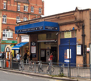 Harry Bell Measures - Measures's original 1900 Shepherd's Bush station building (demolished 2008)