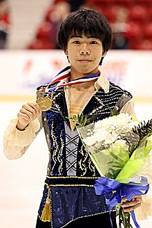 Shun Sato at the 2019 JGP Lake Placid - Awarding ceremony.jpg
