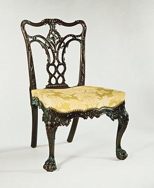 Thomas Affleck - Hairy-paw-foot side chair (c. 1770, mahogany), Metropolitan Museum of Art. Made for General John Cadwalader.
