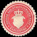 Siegelmarke Grossherzoglich Badische Staatsanwaltschaft - Karlsruhe W0226683.jpg