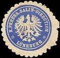 Siegelmarke Königlich Preussische Salin - Direction - Lüneburg W0245948.jpg