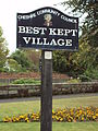 Sign, Willaston village green.JPG