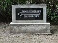 Sign Indicating Mass Graves of 1939 Massacre - Jewish Cemetery - Przemysl - Poland (36203710232).jpg