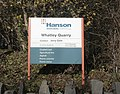 Sign at the main entrance to Whatley Quarry - geograph.org.uk - 1596191.jpg