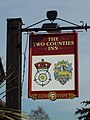 Sign for the Two Counties Inn, Rake - geograph.org.uk - 350942.jpg