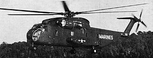 Sikorsky CH-53 Sea Stallion - The YCH-53A prototype in 1964