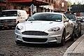 Silver Aston Martin DBS front left.jpg