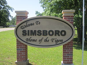 Simsboro, Louisiana - Simsboro welcome sign