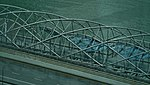 Singapore Helix Bridge viewed from Singapore Flyer 5.jpg