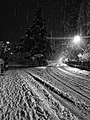 Sinigo under the snow in South Tyrol Italy Photo by Giovanni Ussi Bnw by night (24).jpg