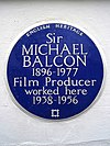 Sir MICHAEL BALCON 1896-1977 Film Producer worked here 1938-1956.jpg