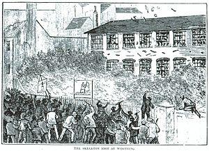 Skeleton Army - The Skeleton Army rioting in Worthing in 1884