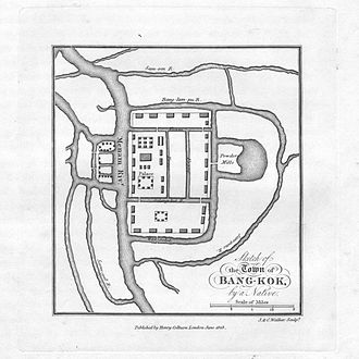 History of Bangkok - Image: Sketch of the town of Bangkok by a native