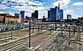Skyline of the financial center, in the foreground, the Milano Porta Garibaldi railway station, Milan, Italy.jpg