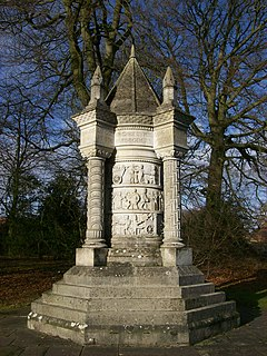 war memorial in Sledmere, East Riding of Yorkshire, England