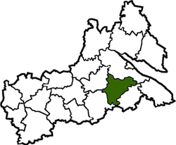 Location of Smilas rajons