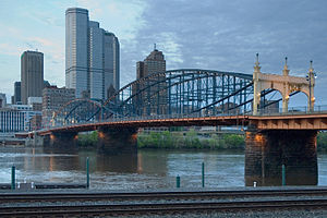 Downtown Pittsburgh - The Smithfield Street Bridge