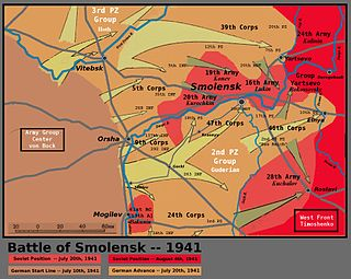 Battle of Smolensk (1941) battle during the second phase of Operation Barbarossa