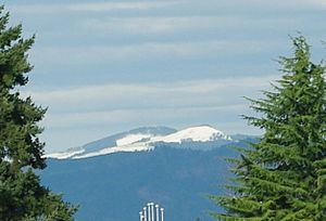 Oregon Coast Range - Snow on South Saddle Mountain