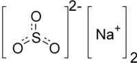 Strukturformel von Natriumsulfit