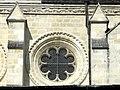 Soissons (02), abbaye Saint-Jean-des-Vignes, réfectoire, corniche et oculus côté est.jpg
