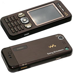 Sony Ericsson W890i (Mocha Brown), front and back.jpg