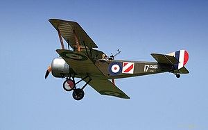 Sopwith 1½ Strutter - A replica Sopwith 1½ Strutter in 1916 RNAS livery, flying at a 2006 air show