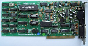 Sound Blaster - Sound Blaster 1.0 (CT1320B); C/MS chips in sockets (labeled U14, U15) are seen.