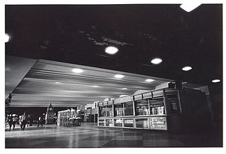 South Station - The main passenger concourse in 1970
