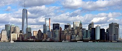 The Financial District of Lower Manhattan, viewed from Brooklyn