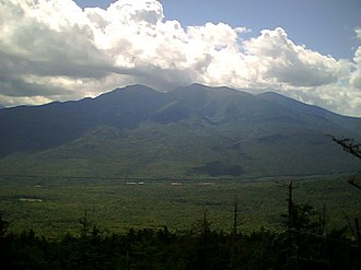 Randolph, New Hampshire - The northern peaks of the Presidential Range as seen from Mt. Crescent.  Route 2 runs through the valley at the foot of Mounts Madison and Adams.  Howker Ridge is to the far left.