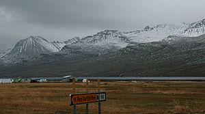 Fáskrúðsfjörður - Image: Southeast across Fáskrúðsfjörður