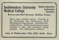 """Southwestern University Medical College (""""American medical directory"""", 1906 advert).png"""