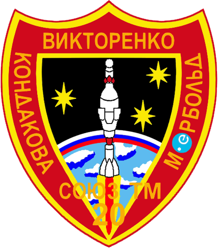 Soyuz TM-20 patch