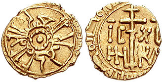 Kingdom of Africa - A gold Sicilian tarì minted at Palermo during Roger II's reign. Sicily depended on African gold for its mints, but the dinars of Africa were of superior gold to the tarìs of Sicily.