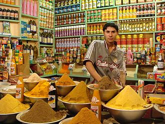 Spice use in Antiquity - A spice market in Nasiriyah displaying certain spices.