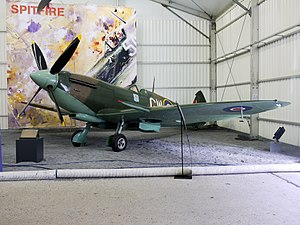 No. 340 Squadron RAF - Free French RAF Squadron 340 (GC Ile de France) Spitfire bearing the Cross of Lorraine marking in the Paris Le Bourget museum.