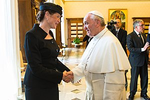 Alenka Bratušek - Alenka Bratušek meeting with Pope Francis