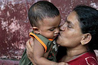 Love - Grandmother and grandchild in Sri Lanka