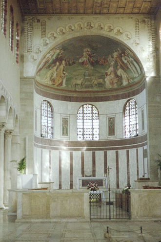 Santa Sabina - Apse and triumphal arch.