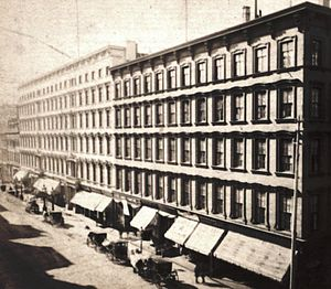 Spring Street (Manhattan) - The St. Nicholas Hotel, no longer extant