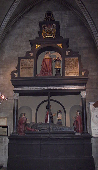 St Patrick's Cathedral, Dublin - Memorial to Thomas Jones, Dean of St Patrick's from 1581 to 1585