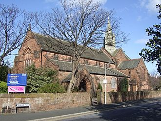 West Kirby - St Andrew's Church, at the junction of Graham Road and Meols Drive