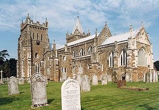 St Marys Church, Ottery St Mary Church in Devon, England