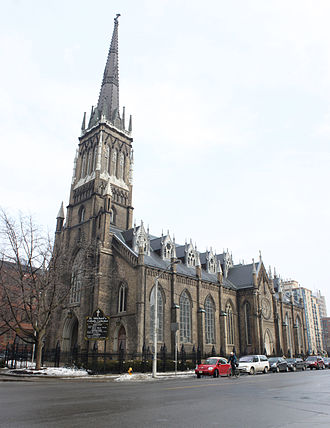 St. Michael's Cathedral Basilica (Toronto) - Image: St Michael's Cathedral from Bond and Shuter