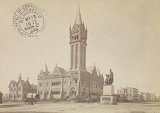St Michael's Uniting Church, Melbourne - St Michael's Uniting Church, then known as the Congregational Church, in 1872