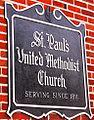 St Pauls United Methodist Church in Monroe MI side wall church sign.jpg
