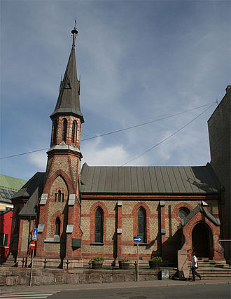 Churches in Norway - The Anglican St. Edmund's Church neo-gothic (1884)
