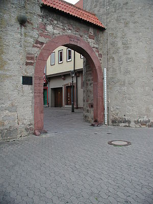 Karlstadt am Main - Image: Stadtmauer Karlstadt PIC00014
