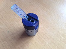 Used, open Staedtler sharpener
